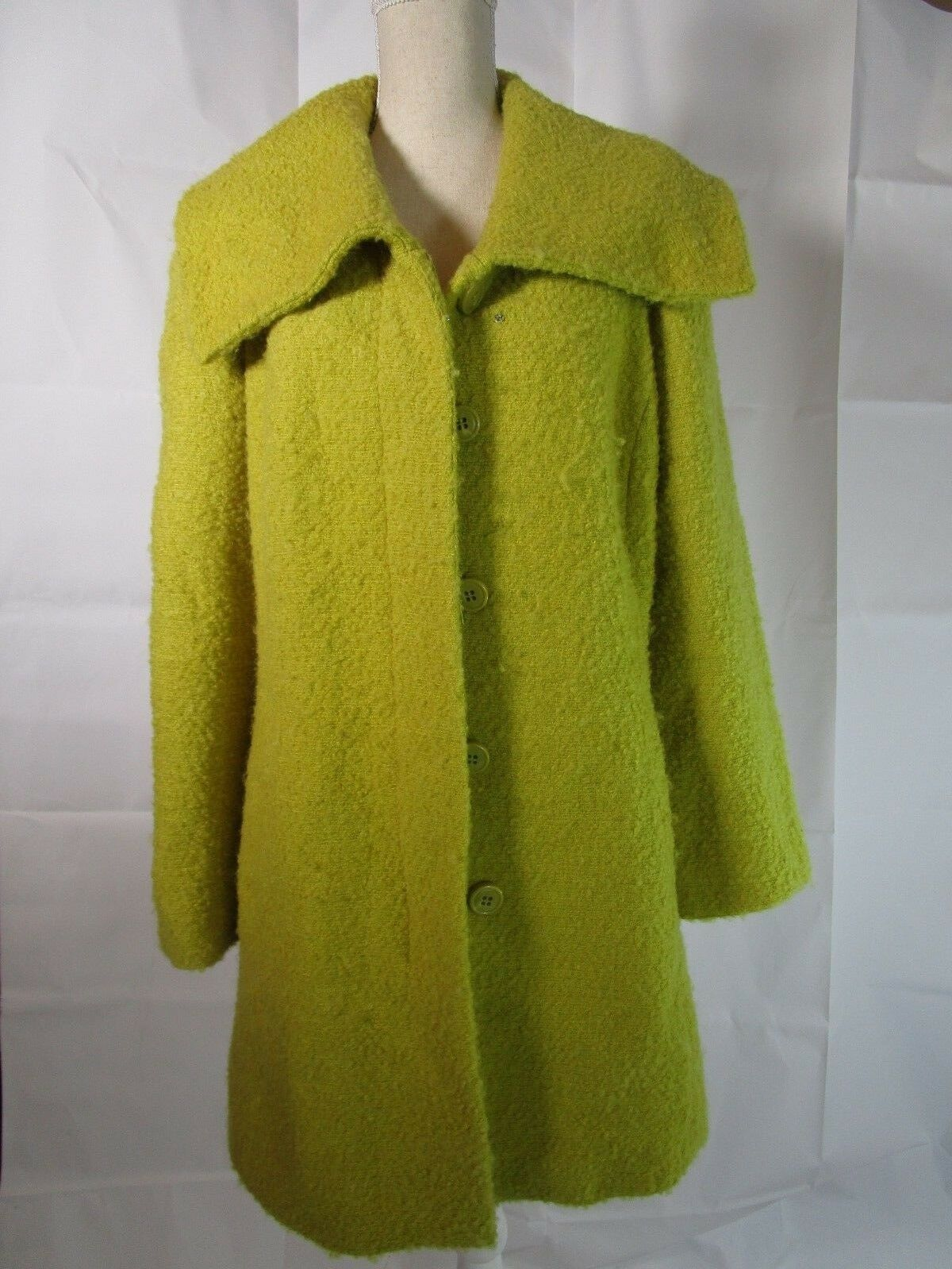 Alfani Light Light Light Green Yellow Coat Size S 5802f4