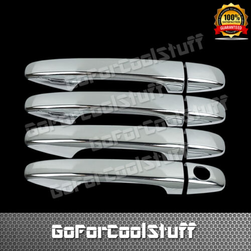 For Toyota Sienna 11-15 Chrome 4 Doors Handles Covers W// Smart Keyhole