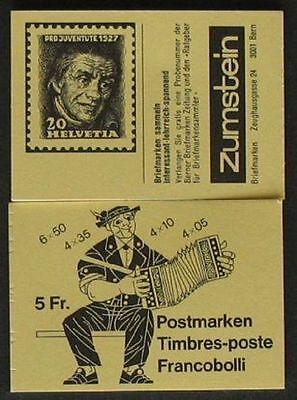 Schweiz Markenheftchen 1984 Mh 0-78 G ** Postfrisch Pro Juventute Geschickte Herstellung Schweiz WohltäTig S668a