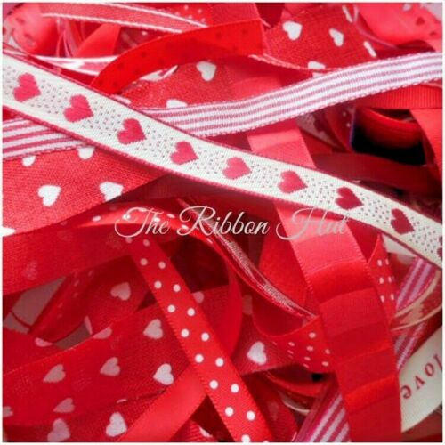 Ribbon Bundles//Pack Mixed Ribbons-10 pieces x 1 Metre long-Craft,Trimmings