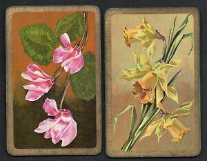 FLOWER-PAIR-01-Vintage-Playing-Swap-Cards