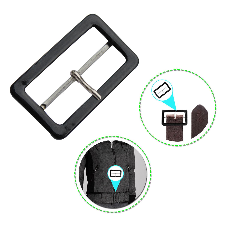 Schwarz Beschichtet Bedeckt 50mm Plastik Schnalle Rechteck Für Reparatur Basteln