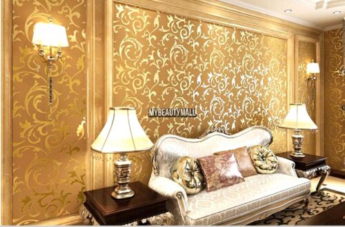 3D Wave Non-Woven Wallpaper Roll Background Wall Sticker Decal Home DIY Decor US
