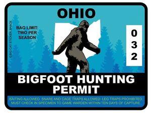 Bigfoot-Hunting-Permit-OHIO-Bumper-Sticker