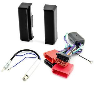 Radio-Blende-Adapter-Kabel-Set-fuer-AUDI-A4-B5-A6-C4-A8-4D-Aktivsystem-ISO-1DIN