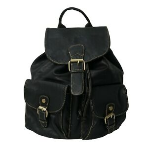 Women-039-s-stylish-designer-made-faux-leather-multi-pocket-backpack-shoulder-bags