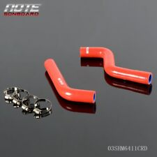2PCS Silicone Radiator Hose Tube Kit Clamps For Suzuki LTZ400 LTZ 400 2009-2010 Red