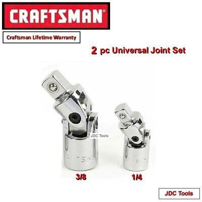 CRAFTSMAN HAND TOOLS 2pc 1//4 3//8 FULL POLISH Ratchet socket wrench set !!