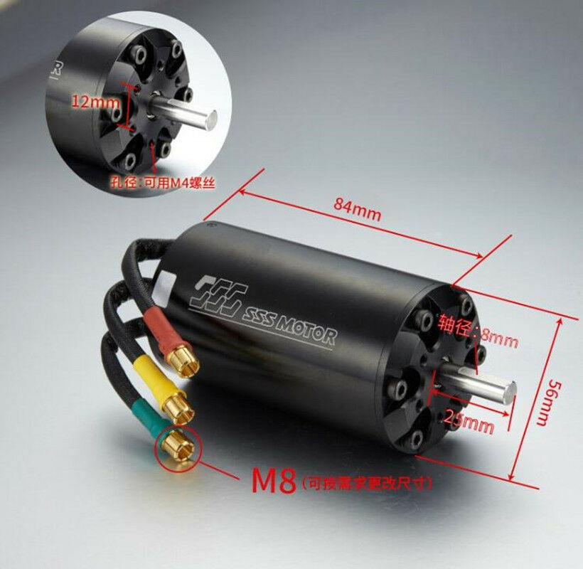SSS 5684 1000KV Brushless Motor 6 Poles Water Cooling  For RC Boats  wholesape economico