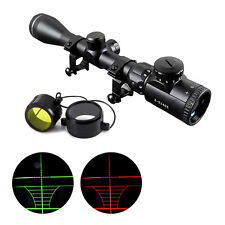 40mm 3-9X Red/Green Mil-Dot Sight Illuminated Optics Hunting Sniper Scope LSY357