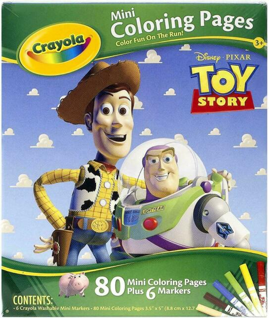 Crayola Disney Pixar Toy Story 80 Mini Coloring Pages + 6 ...