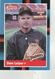 FREE-SHIPPING-MINT-1988-Donruss-San-Diego-Padres-Baseball-Card-557-Dave-Leiper