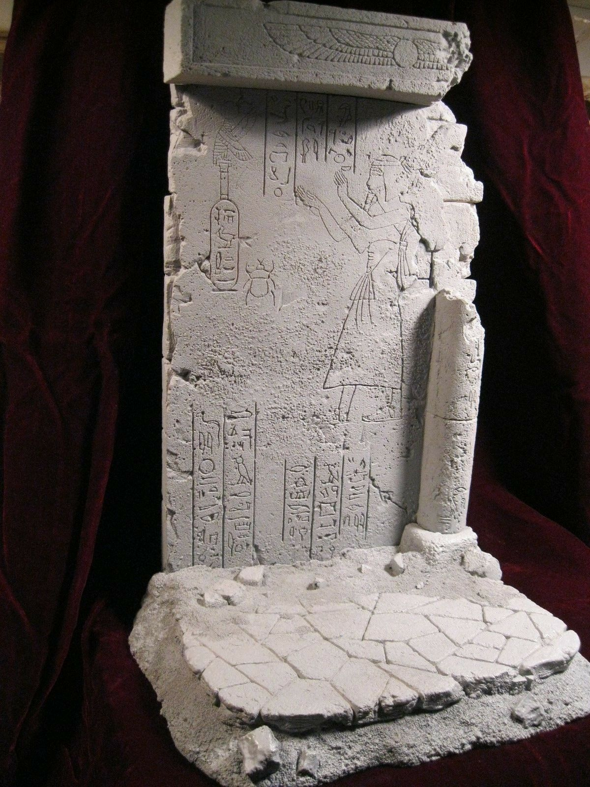Reissue base  PHARAOH , resin kit 1 6. design, and sculpture, by JL CRINON