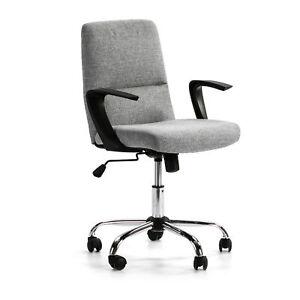 Sillón Oficina Teo reclinable Gris Claro,Piel sintética,Silla ejecutiva,Altur...