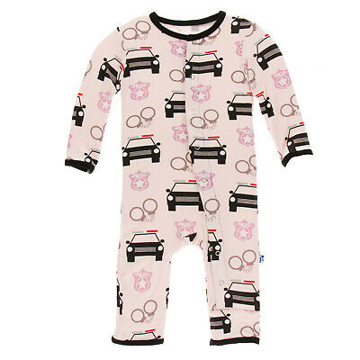 3-6M 6-9M  NWT KICKEE PANTS ORCHID CLASSIC RUFFLE COVERALL WITH SNAPS SIZES