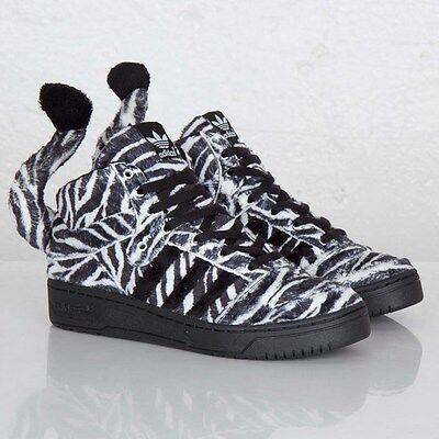 Adidas Originals JS Jeremy Scott Zebra Black White Fur bear G95749 Men New