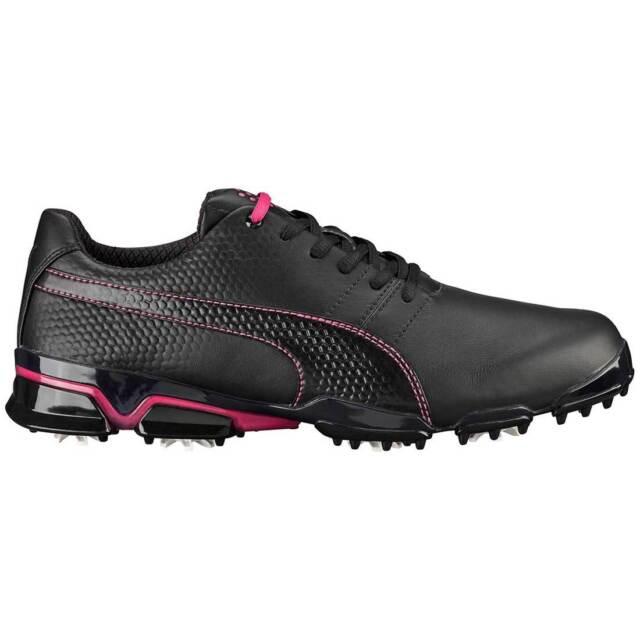 New Puma TitanTour Ignite Men s Golf Shoes Black Beetroot Purple - 188656-08 71f834781