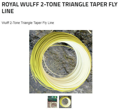 Lee Wulff Triangle taper 2 tone fly line Floating  5wt to 8wt