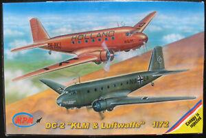 MPM-72515-Douglas-DC-2-034-KLM-amp-Luftwaffe-034-1-72-Flugzeug-Modellbausatz-KIT
