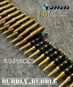 1-6-Scale-7-62-Caliber-50PCS-Metal-Machine-Bullet-Chain-SHIP-FROM-USA