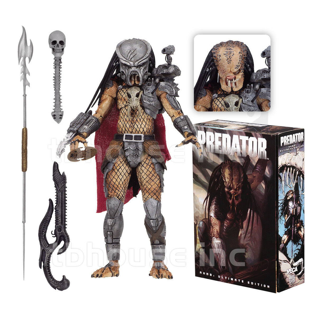 ULTIMATE AHAB figure ProssoATOR alien FIRE AND STONE dark horse LIFE DEATH vs NECA