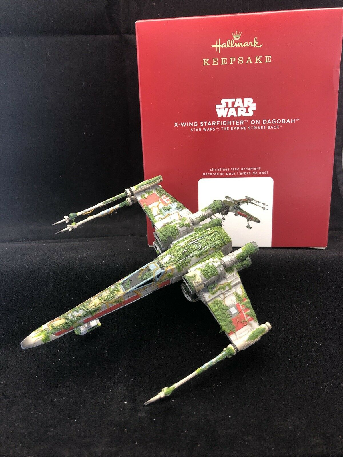 NIB 2020 Hallmark Star Wars X-Wing Starfighter On Dagobah//Xmas Ornament//$32.99