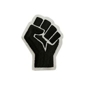 Black Power Fist Embroidered Iron On Patch - BLM Black Lives Matter 106-M