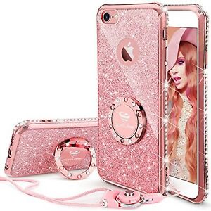 Iphone 6s Plus Case Glitter Cute Phone Case Girls With Kickstand Bling Diam 714119961069 Ebay