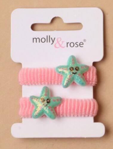 Girls Glitter Mermaid Dolphin Starfish Hair Acessories Ponios Bobbles Toddler