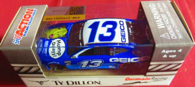 TY DILLON,  BRAND NEW, 1/64 2020 CAMARO ZL1, GEICO HUMP DAY!,  #13  IN HAND