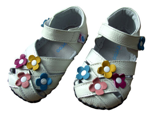 Baby Girl/'s Auténtico Cuero Niño Infantil Para Niños blanco suave único calzado de verano