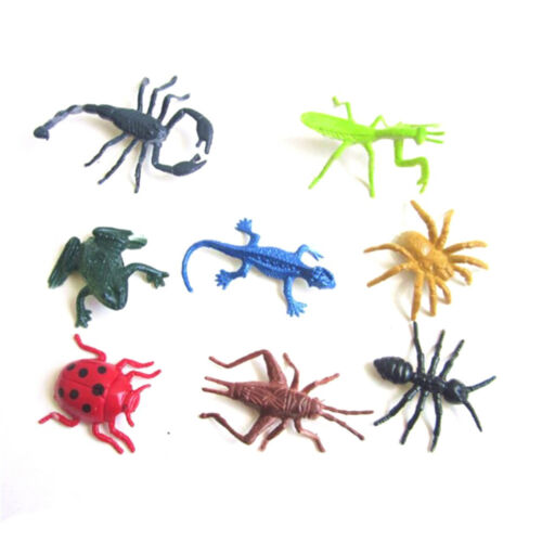 8pcs/set Plastic Insect Reptile Model Figures Kids Favor Educational Toys CYCA