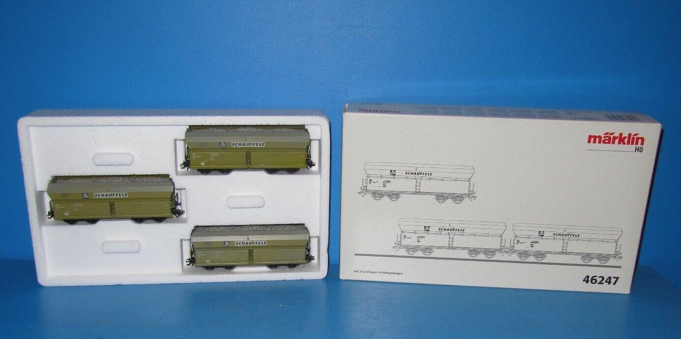 Märklin h0 3er set schüttgutwagen  schauffele  top en OVP nº 46247