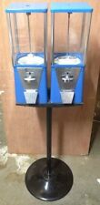 Two Way Oak Vista Candy Toy Gumball Vending Machine With Pipe Stand Oldampdirty