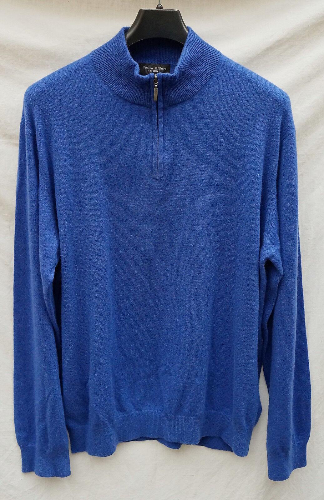 100% Kaschmir Herren Troyer Gr.XL royalblau TAILOR& SON  Pullover  blau MARITIM