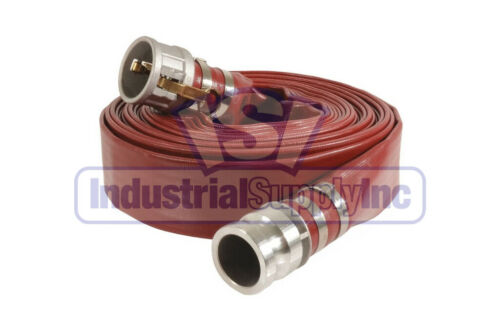 """Suction HoseEPDM Rubber3/"""" x 20 FTConventional Complete Kit50 FT Red"""
