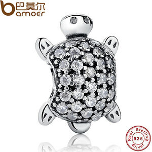 New-Authentic-S925-Sterling-Silver-Sweet-Charm-Sea-Turtle-Clear-CZ-Fit-Bracelet