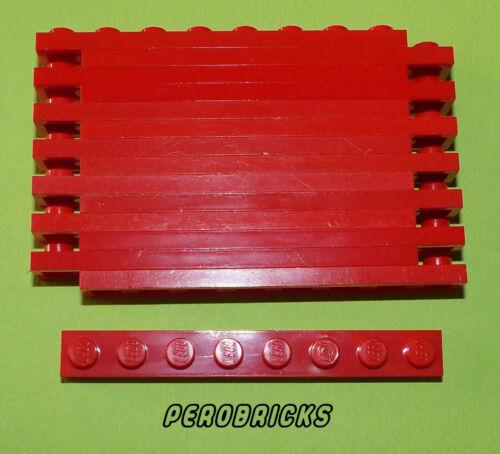 LEGO BASIC Technique Technic 15 Plaques 1x8 #3460 Rouge