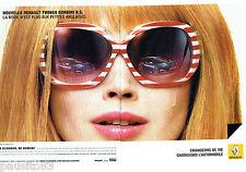 PUBLICITE ADVERTISING  046  2010  Renault  la Twingo Gordini (2p)