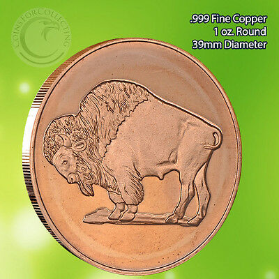Buffalo 1 oz .999 Copper Round