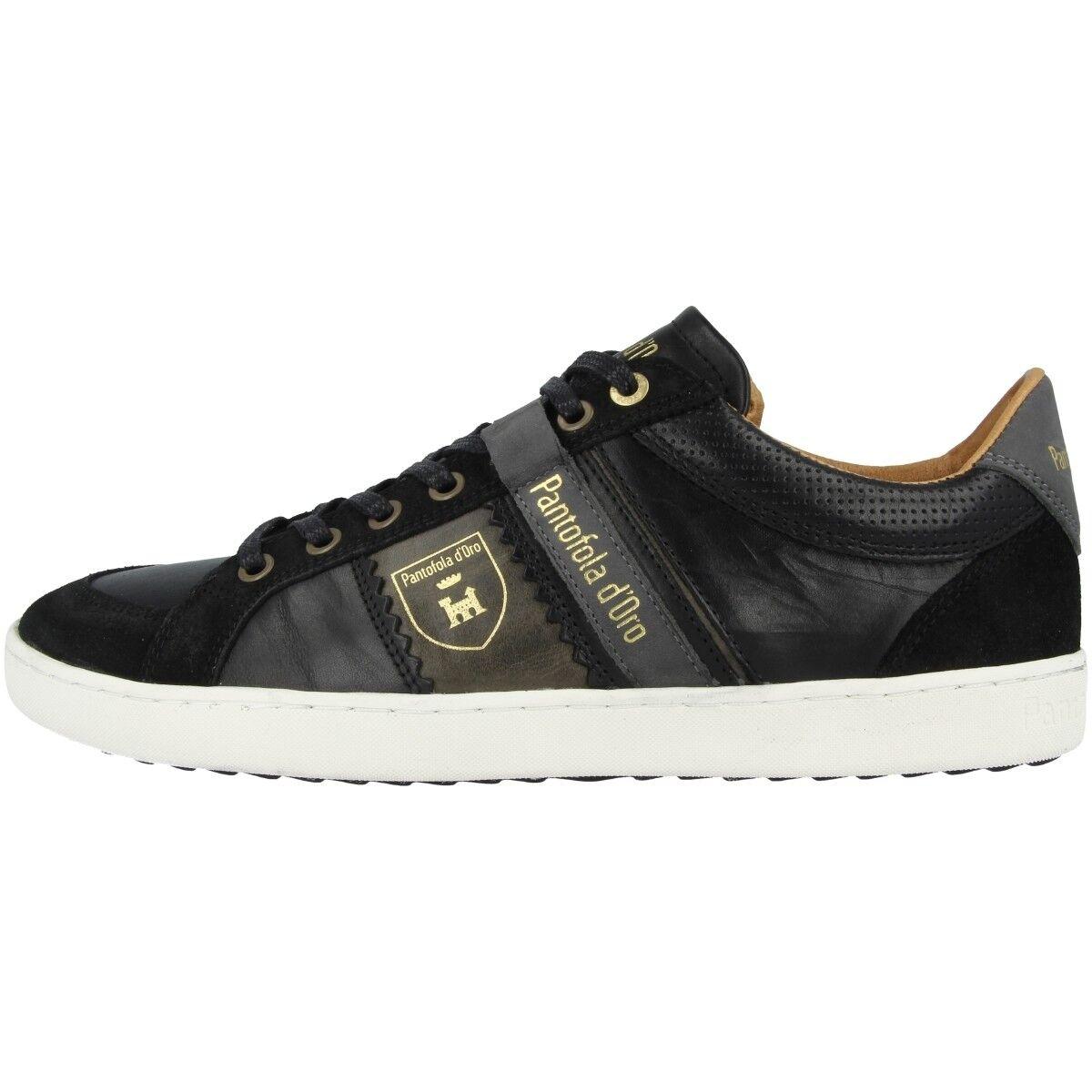 Pantofola d Pesaro Oro Savio hombre Low Pesaro d Piceno Zapatos Sneaker Negro 10183041.25Y 14b371