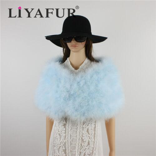 New Bridal Ostrich Feather Fur Wedding Dress Jacket Wrap Bridesmaid Cape Shawl