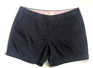 J-Crew-Women-Cotton-Chino-Shorts-Navy-Blue-Size-10-New