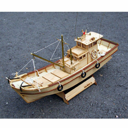 Yngmodeller 1 25 Scale 7-Tonnage Korean Fishing Boat Desktop träen modell Kit