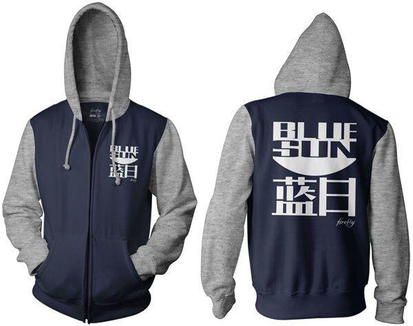 Serenity Firefly Blau Sun  Herren Navy Blau Zip Up Hoodie Sweatshirt