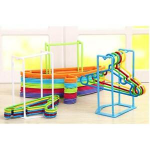 Plastic-Clothes-Organizer-Hanger-Holder-Stacker-Storage-Rack-Home-Travel-LA