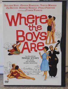 Where-the-Boys-Are-DVD-2004-RARE-CONNIE-FRANCIS-1ST-MOVIE-1960-MINT-DISC