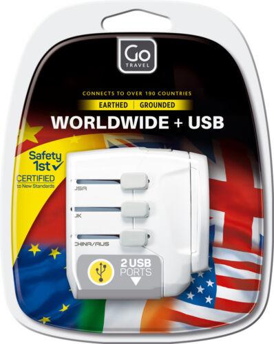 adaptateur Ref 639 Go Voyage à la terre dans le monde entier Adaptateur Convertisseur Avec Double USB