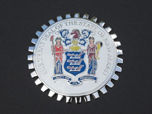 NEW JERSEY STATE SEAL AUTOMOBILE GRILLE BADGE EMBLEM