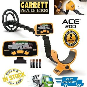 Garrett-Ace-200-Metal-Detector-with-Submersible-Coil-amp-Batteries-Free-Ship-USA